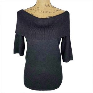 Ann Taylor Off The Shoulder Fold Over Sweater